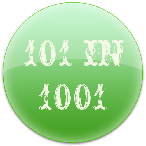 101 in 1001 button